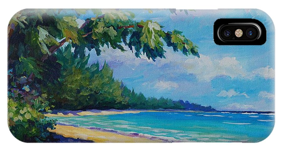 7mb IPhone X Case featuring the painting 7 Mile Beach by John Clark