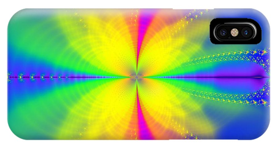Original IPhone X Case featuring the digital art A Sun Goes Supernova by Archie Washington