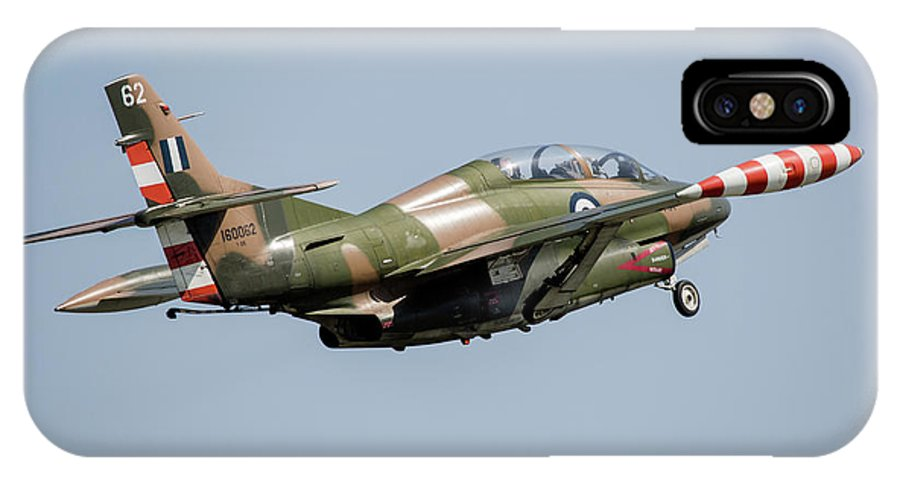Greece IPhone X Case featuring the photograph A T-2e Buckeye Trainer Aircraft by Timm Ziegenthaler