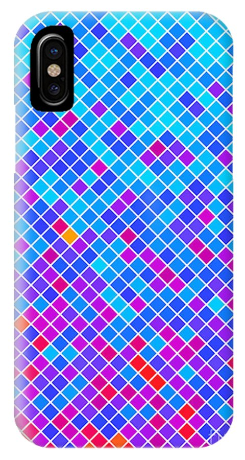 Color IPhone X Case featuring the digital art Abstract Background, Vector Without by Gala
