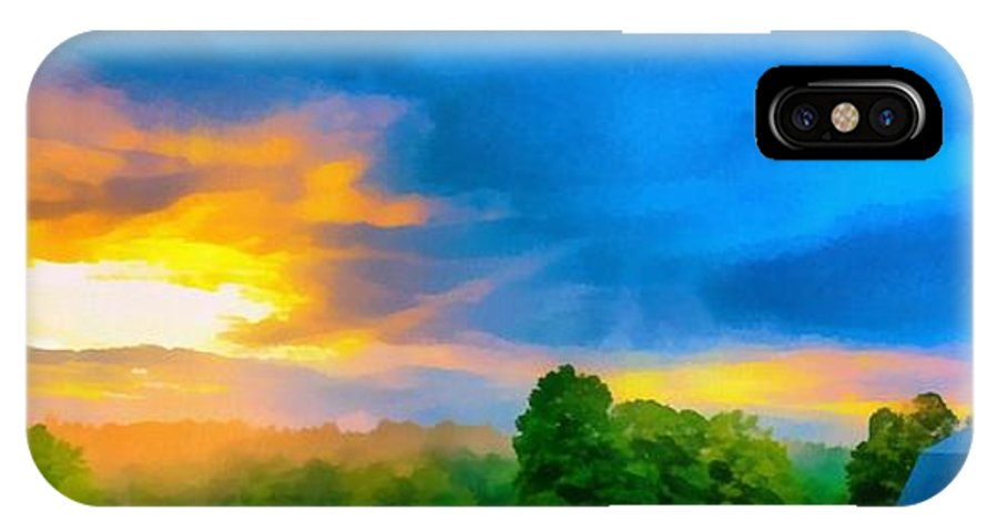 Etna IPhone X Case featuring the photograph After The Storm Passes by Edward Fielding