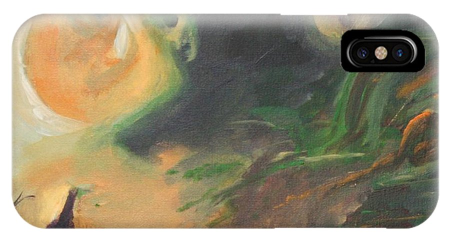 Aires Rising IPhone X Case featuring the painting Aires Rising by Gail Daley