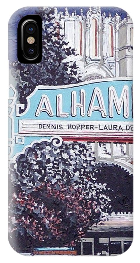 Sacramento IPhone X Case featuring the painting Alhambra Theatre by Paul Guyer