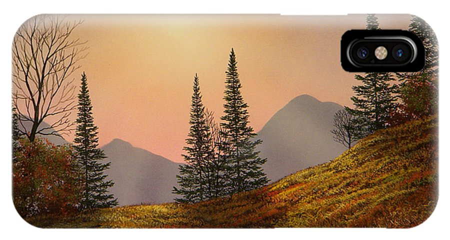 Alpine Sunset IPhone X Case featuring the painting Alpine Sunset by Frank Wilson