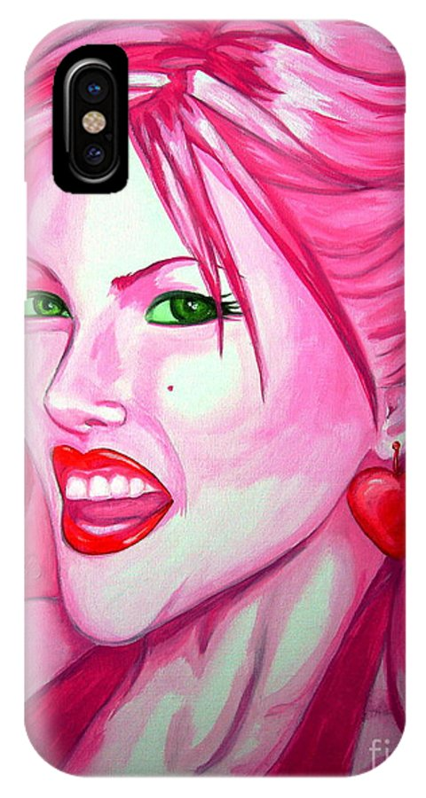 Anna Nicole IPhone X Case featuring the painting Anna by Holly Picano