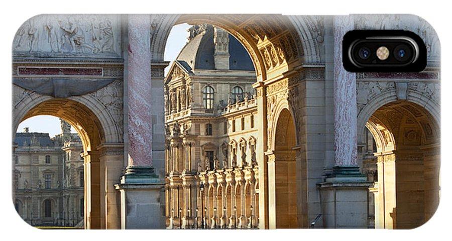 Arc De Triomphe Du Carrousel IPhone X Case featuring the photograph Arc De Triomphe Du Carrousel by Brian Jannsen