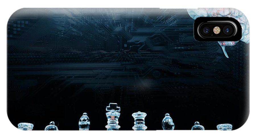 Nobody IPhone X Case featuring the photograph Artificial Intelligence by Christian Lagerek/science Photo Library