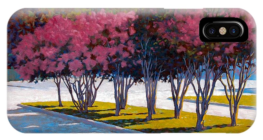 Crepe Myrtles IPhone Case featuring the painting Balanced Account by Kevin Lawrence Leveque
