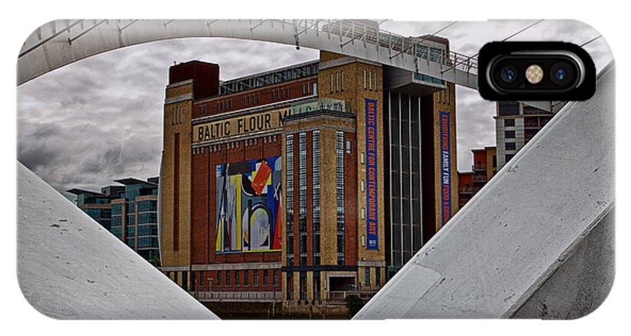 Millennium Bridge IPhone X Case featuring the photograph Baltic And Gateshead Millennium Bridge by David Pringle