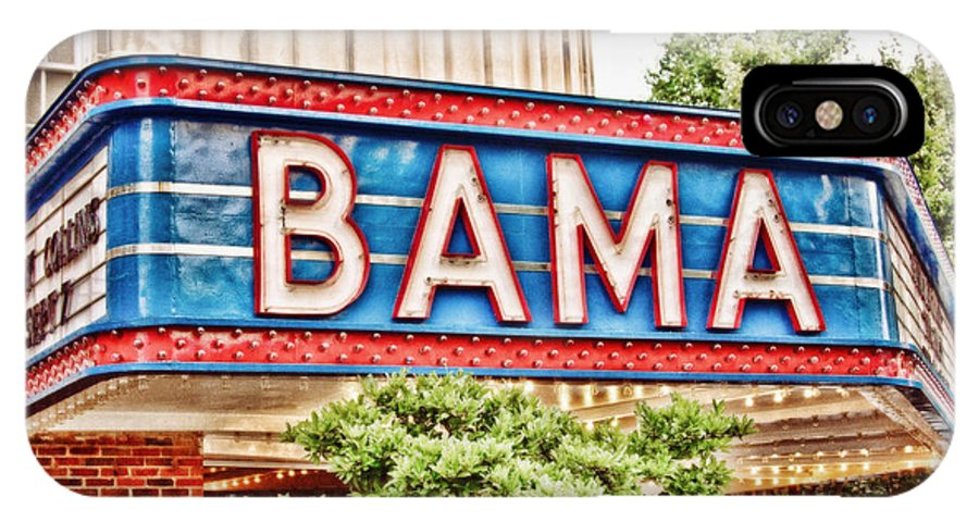 Bama Theatre IPhone X Case featuring the photograph Bama by Scott Pellegrin