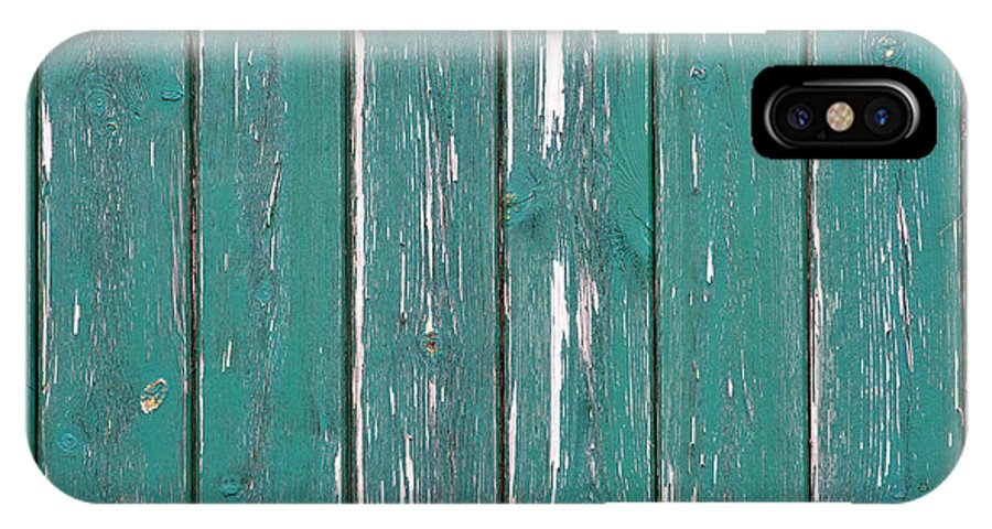 Abstract IPhone X Case featuring the photograph Battered Wooden Wall by Fizzy Image