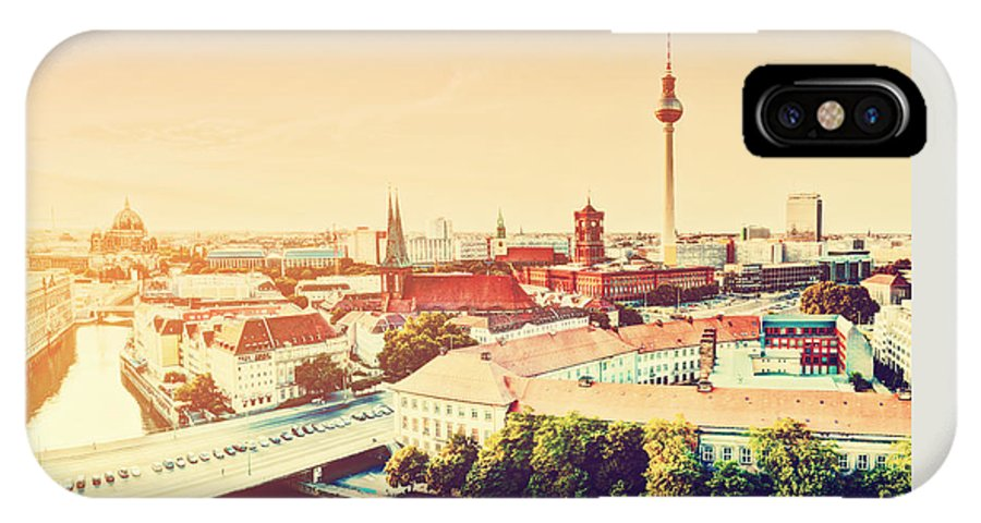 Berlin IPhone X Case featuring the photograph Berlin Germany View On Major Landmarks by Michal Bednarek