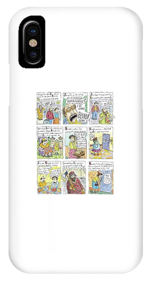 120153 Rch Roz Chast  (short Story Plot Points.) IPhone X Case featuring the drawing Better Than Chekhov by Roz Chast