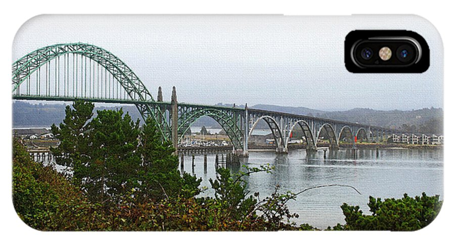 Big River Bridge Oregon Coast IPhone X Case featuring the photograph Big River Bridge Oregon Coast by Tom Janca