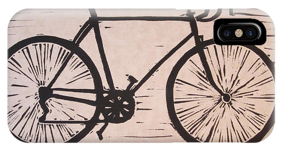 Bike IPhone X Case featuring the drawing Bike 8 by William Cauthern