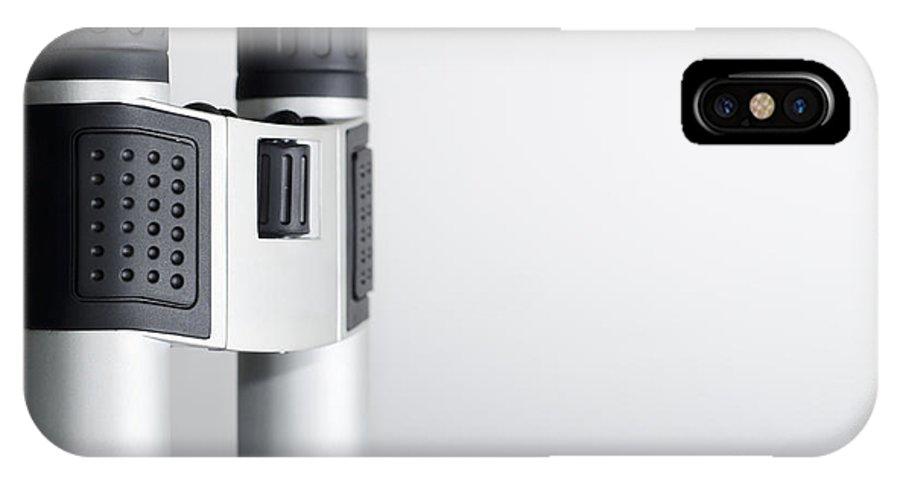 Binoculars IPhone X Case featuring the photograph Binoculars by Mats Silvan