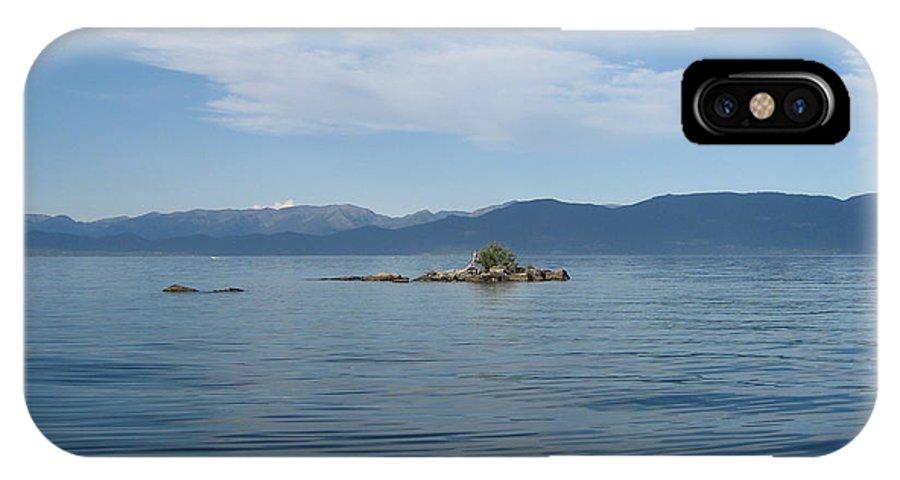 Flathead Lake IPhone X Case featuring the photograph Bird Island by June Hatleberg Photography