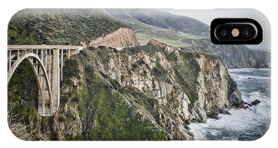 Bixby IPhone X Case featuring the photograph Bixby Bridge Vista by Heather Applegate