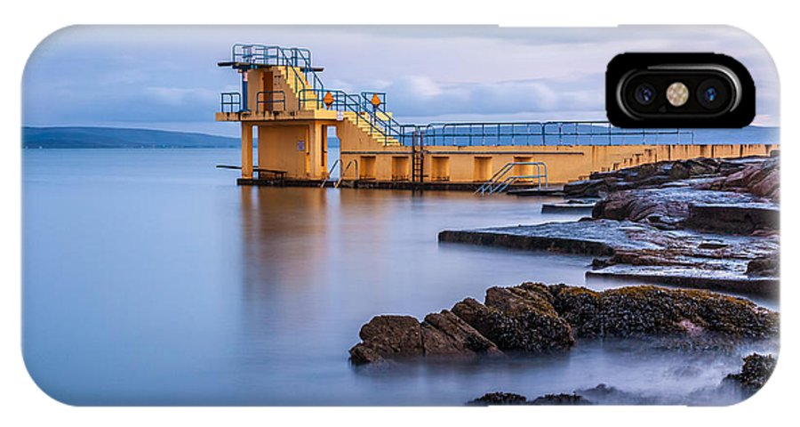 Blackrock IPhone X Case featuring the photograph Blackrock Diving Platform Galway Ireland by Pierre Leclerc Photography