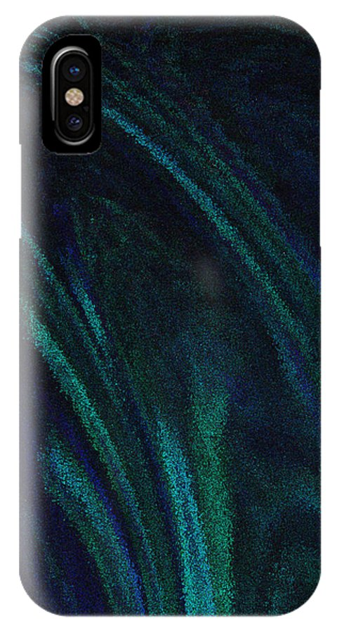 Blue IPhone X Case featuring the digital art Blue Blur by Patricia Kay