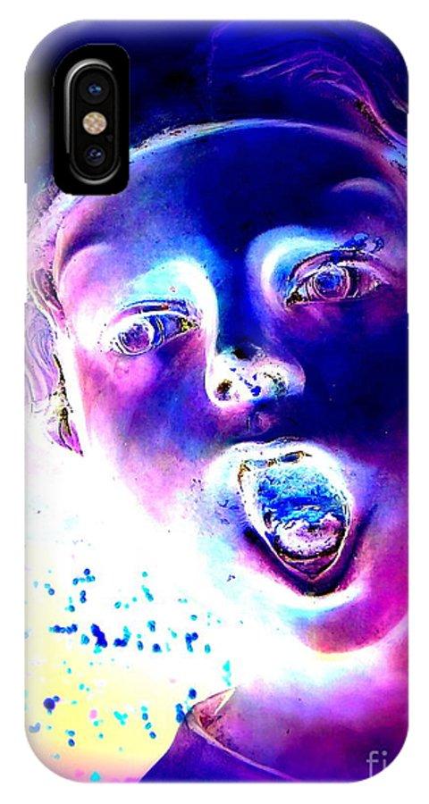 Pop Art IPhone X Case featuring the digital art Blue Boy by Ed Weidman