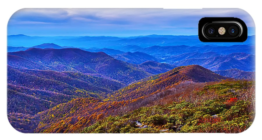 View IPhone X Case featuring the photograph Blue Ridge Parkway by Alex Grichenko