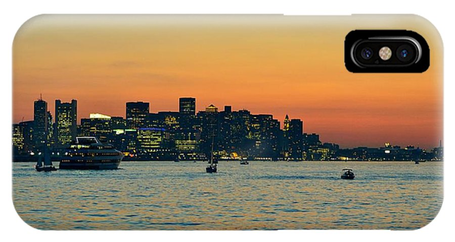 IPhone X Case featuring the photograph Boston Skyline by Mithun Das