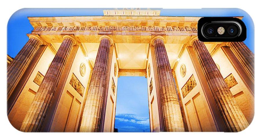Brandenburg IPhone X Case featuring the photograph Brandenburg Gate Berlin Germany by Michal Bednarek