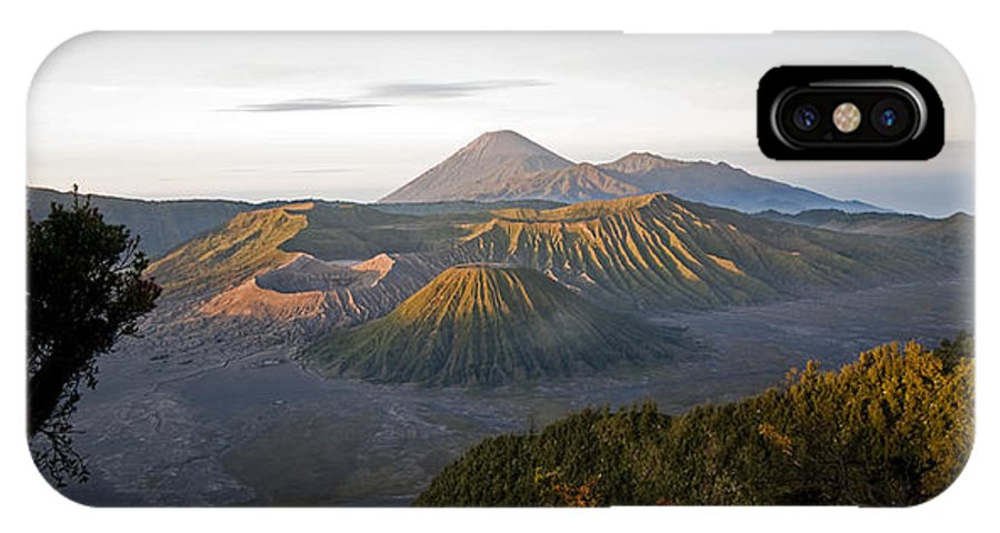 Bromo IPhone X Case featuring the digital art Bromo Valley Java Indonesia by Dray Van Beeck