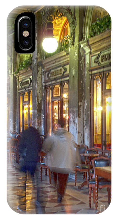 Venice IPhone X Case featuring the photograph Caffe Florian Arcade by Heiko Koehrer-Wagner