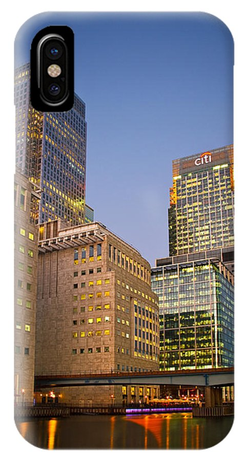 United Kingdom IPhone X Case featuring the photograph Canary Wharf. by Milan Gonda