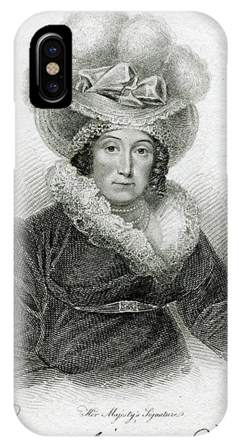 Caroline IPhone X Case featuring the drawing Caroline Of Brunswick Amelia Elizabeth by Mary Evans Picture Library