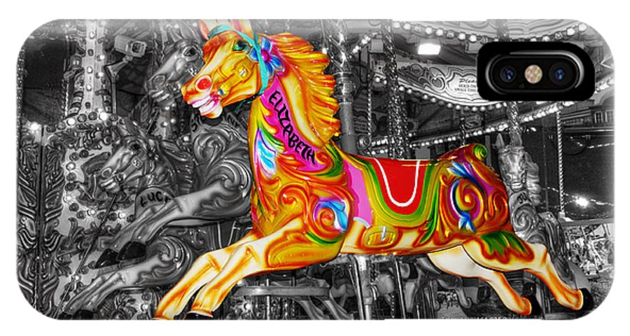 Carousel IPhone X Case featuring the photograph Carousel In Bournemouth by Chris Day