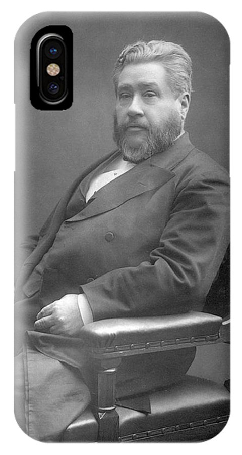 Spurgeon IPhone X Case featuring the photograph Charles Haddon Spurgeon (1834 - 1892) by Mary Evans Picture Library