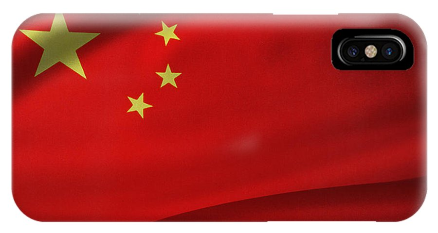 Banner IPhone X / XS Case featuring the photograph Chinese Flag by Les Cunliffe