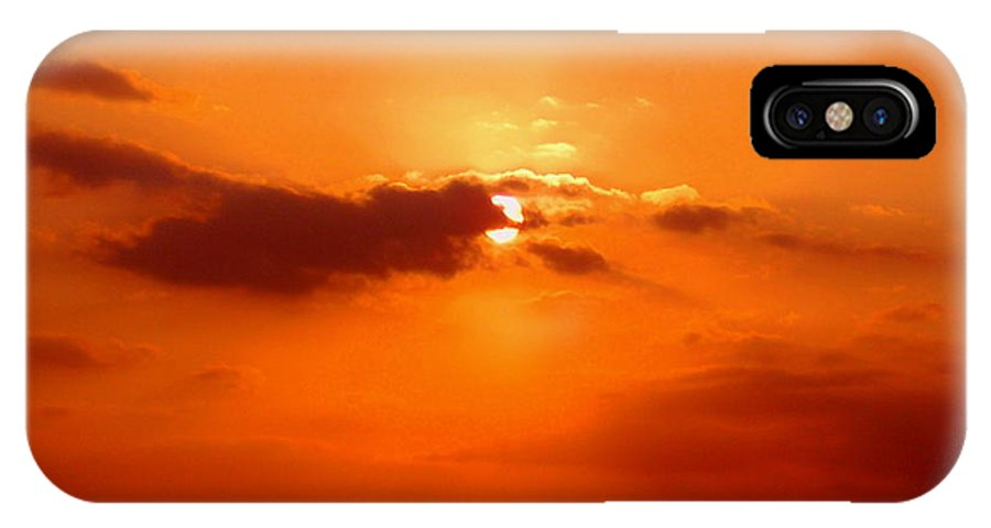 Sunset Pictures IPhone X Case featuring the photograph Cloudscape by Athala Carole Bruckner