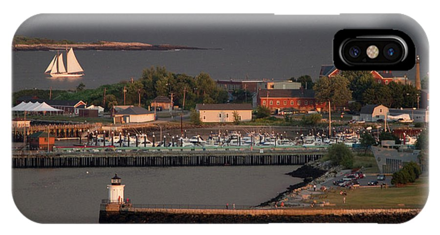 Casco Bay IPhone X Case featuring the photograph Coastal Life In Maine by Carl D. Walsh