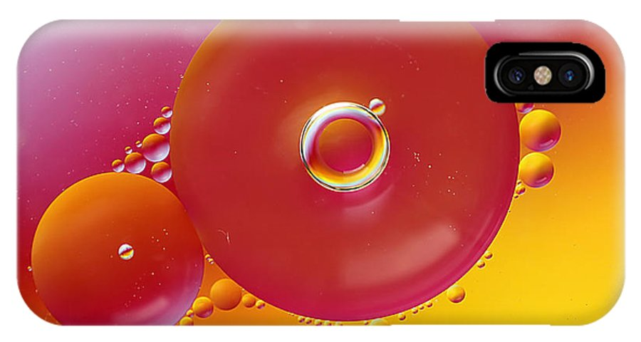 Cool IPhone X Case featuring the photograph Colorful Circles by Darren Fisher