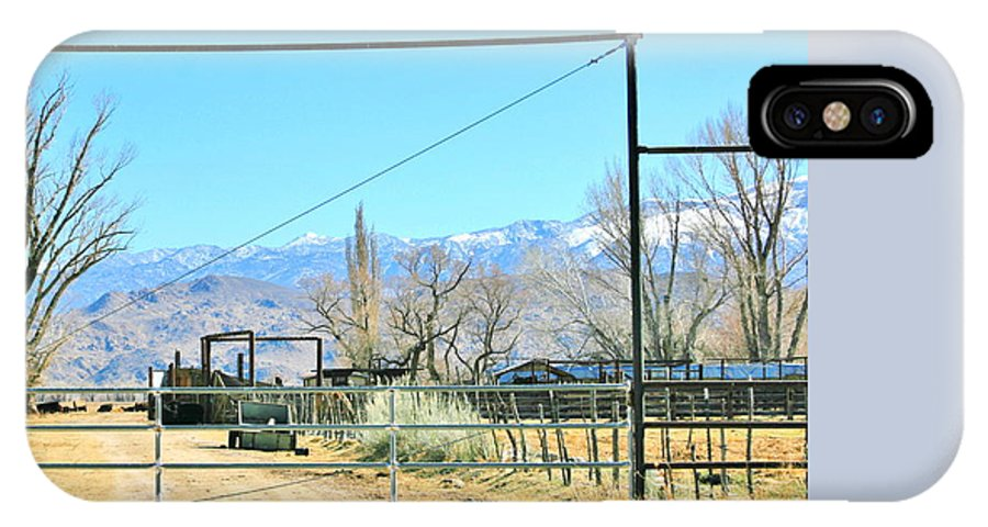 Sky IPhone X Case featuring the photograph Come On In by Marilyn Diaz