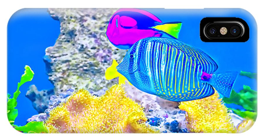 Reef IPhone X Case featuring the photograph Coral Fishes by Dragomir Nikolov