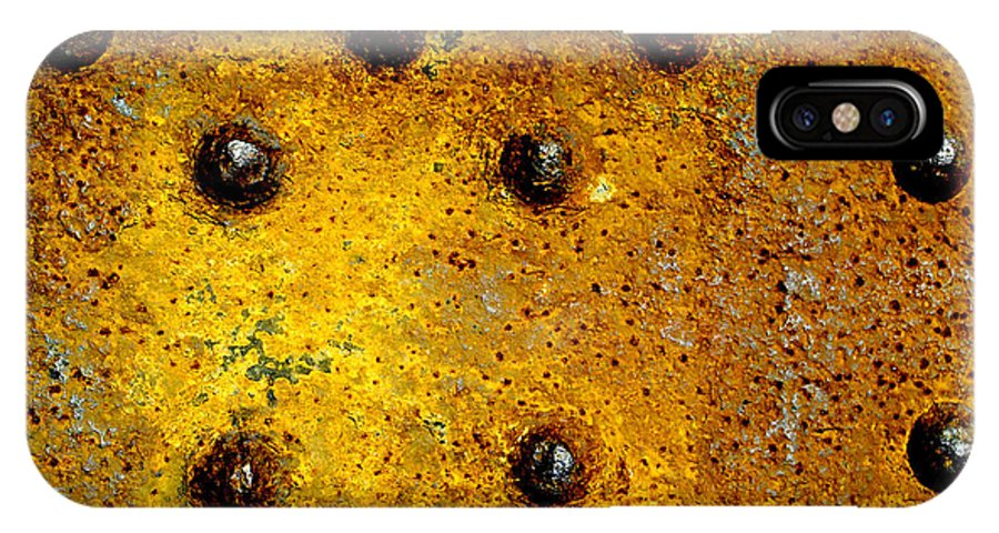 Abstract IPhone X Case featuring the photograph Corrosion by Angelo Andiario