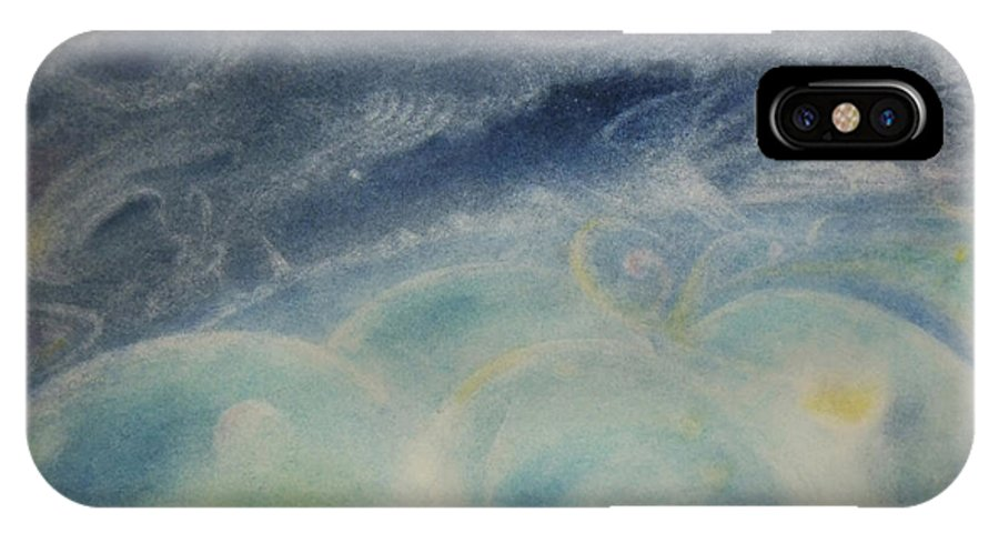 Landscape IPhone X Case featuring the painting Dream Night by Joel Rudin