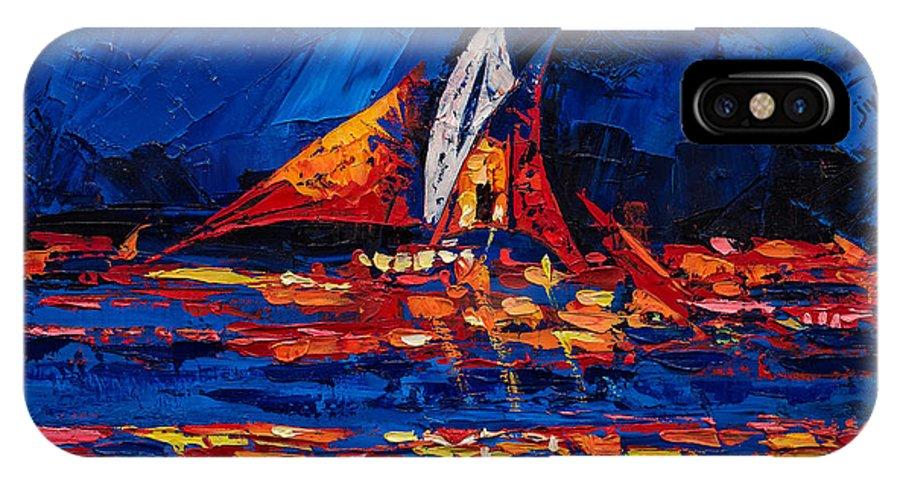 Dubai IPhone X Case featuring the painting Dubai by Jivan Hovhannisian