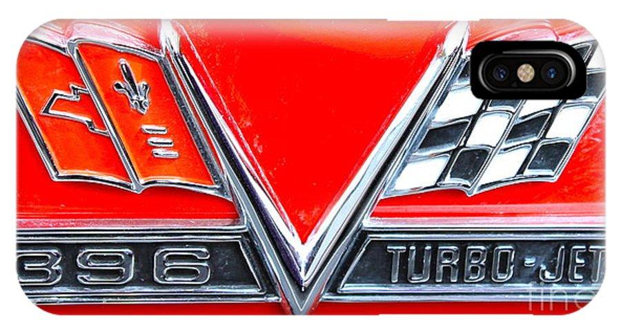 Emblem IPhone X Case featuring the photograph 396 Turbo Jet Emblem by Pamela Walrath