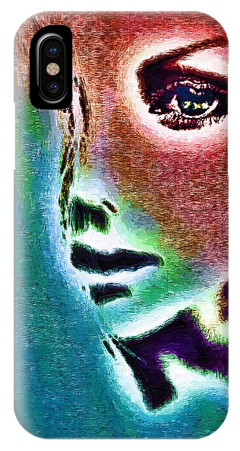 Enigma IPhone X Case featuring the painting Enigma by Tyler Robbins