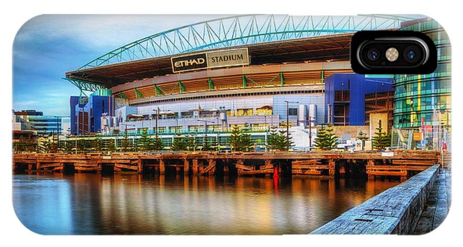 Melbourne IPhone X Case featuring the photograph Etihad Stadium by Paradigm Blue