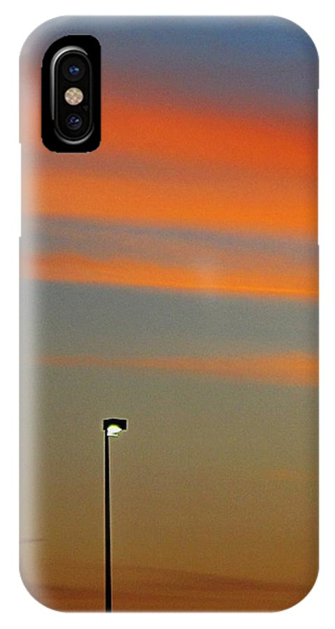 Sunset IPhone X Case featuring the photograph Evening Colors by Frank Chipasula