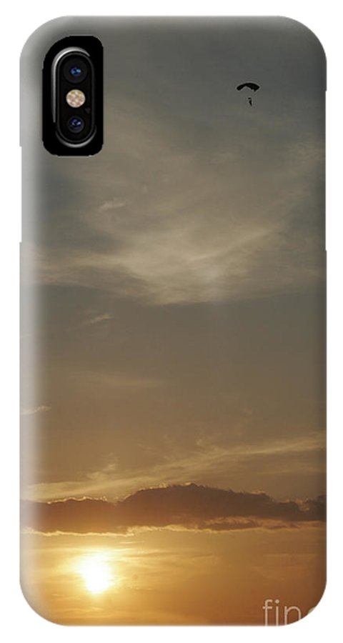 Balloons IPhone X Case featuring the photograph Flying Solo by Paul Anderson