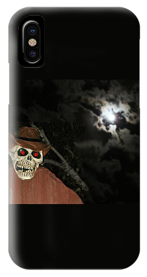 Fright Night IPhone X Case featuring the photograph Fright Night 1 by Ellen Henneke