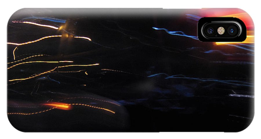 Speed IPhone X Case featuring the photograph from Speed of Light series by Ivan Tsupka